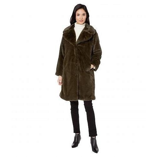贅沢品 Avec Les Filles レディース 女性用 ファッション アウター ジャケット コート Faux Fur Knee-Length Coat - Olive, Osakaya Ladys Web Connection a493fc99