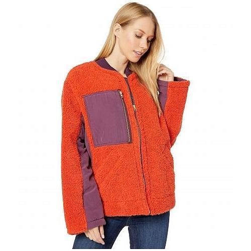 【予約販売】本 Free People フリーピープル レディース 女性用 ファッション アウター ジャケット コート Rivington Sherpa Jacket - Red, 香水フレグランスのお店ブリサアラ 3a4cc394
