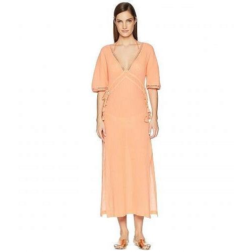 Heidi Klein レディース 女性用 スポーツ・アウトドア用品 水着 カバーアップ Costa Rica Lace Trim Maxi Dress Cover-Up - Coral