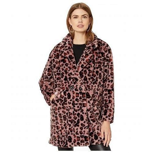 品質は非常に良い Steve Madden スティーブマデン レディース 女性用 ファッション アウター ジャケット コート Leopard Faux Fur Jacket - Pink Leopard, FLAGS a62aec32