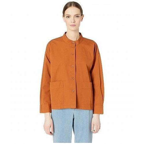 注文割引 Eileen Fisher アイリーンフィッシャー レディース 女性用 ファッション アウター ジャケット コート カジュアルジャケット Mandarin Collar Boxy Jacket - M.., Baby A-GoGo bfa5721e