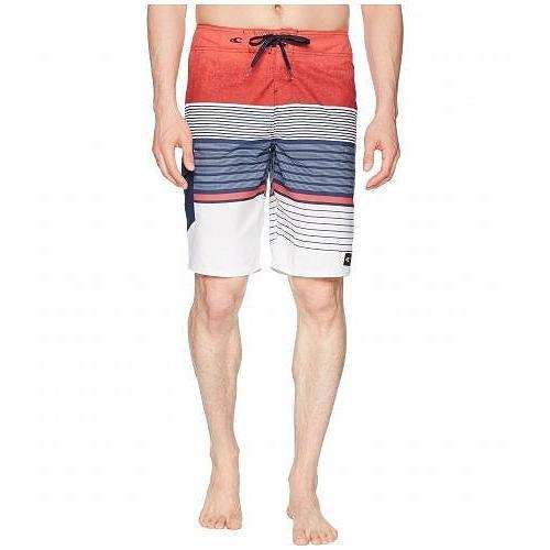 O'Neill オニール メンズ 男性用 スポーツ・アウトドア用品 水着 Lennox Boardshorts - 赤/白い/青