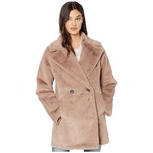 激安な Avec Les Filles レディース 女性用 ファッション アウター ジャケット コート Faux Fur Bonded Menswear Peacoat - Dove, 半纏着物屋 木南堂 1a96325a