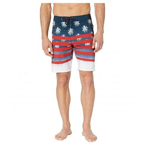O'Neill オニール メンズ 男性用 スポーツ・アウトドア用品 水着 Hyperfreak Sarfin USA Swimshorts - 赤/白い/青