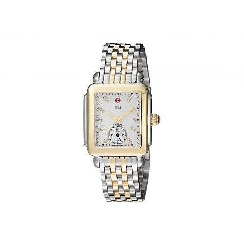 激安/新作 Michele ミッシェル レディース 女性用 腕時計 ウォッチ ファッション時計 Deco Diamond-Two-Tone Stainless Steel Watch - Two-Tone Silver/Gold, 中間市 9534aefd