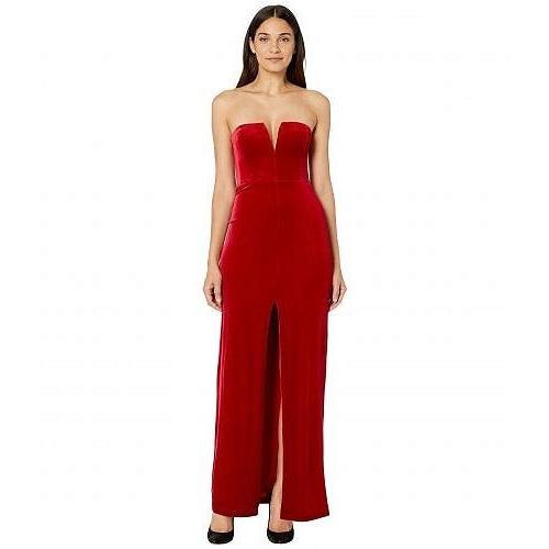 【最安値】 BCBGMAXAZRIA Gown ビーシービージーマックスアズリア レディース 女性用 ファッション ドレス Strapless Velvet Velvet レディース Gown - Passion Red, かわいい!:f694fde9 --- sonpurmela.online