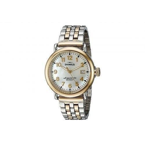 【在庫一掃】 Shinola Detroit シノラデトロイト レディース 女性用 腕時計 ウォッチ ファッション時計 The Runwell 36mm - 10000237 - White/Stainless Steel/Gold, 西白河郡 1a7fa3ed