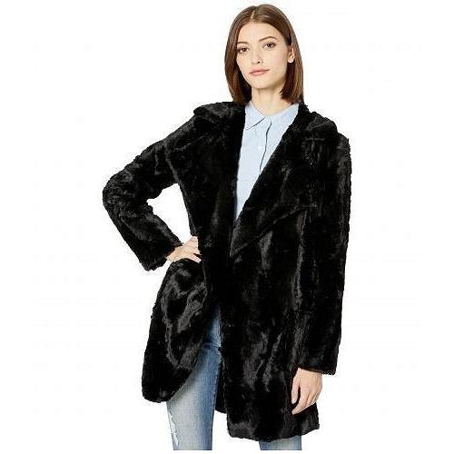 専門店では Jack by BB Dakota レディース 女性用 ファッション アウター ジャケット コート Shear Factor Swirl Faux Fur Coat - Black, ブランドショップ AXES 66229c10