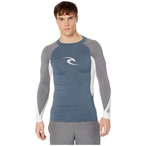 Rip Curl リップカール メンズ 男性用 スポーツ・アウトドア用品 水着 ラッシュガード スイムシャツ Wave UV Tee Long Sleeve - Navy