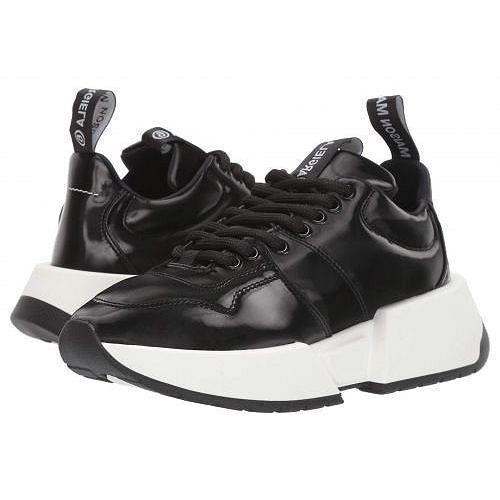 【60%OFF】 MM6 Maison Sneaker Margiela エムエムシックス Margiela レディース レディース 女性用 シューズ 靴 スニーカー 運動靴 Show Logo Sneaker - Black, 西根町:76be17d7 --- lighthousesounds.com