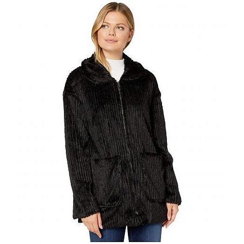 【逸品】 Mod-o-doc モッドオードック レディース 女性用 ファッション アウター ジャケット コート Corded Faux Fur Zip Front Patch Pocket Jacket - Black, kunistyle 2604e4f8