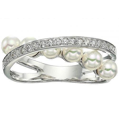 【メーカー直送】 Majorica マジョリカ レディース 女性用 ジュエリー 宝飾品 リング 指輪 Eternity Rings 4 mm White Pearls CZ Sterling Silver Ring - White, コンペパートナー f9e04a80
