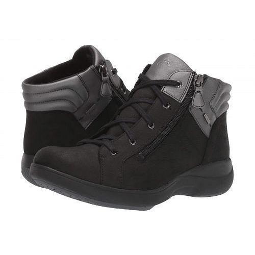 配送員設置 Aravon アラヴォン レディース 女性用 シューズ 靴 ブーツ アンクルブーツ ショート Rev Stridarc Waterproof Low Boot - Black Nubuck, カジュアルファッション NOD 8e2ae298