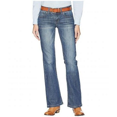 Stetson ステットソン レディース 女性用 ファッション ジーンズ デニム Box Stitch Embroidery Back Pocket - 青
