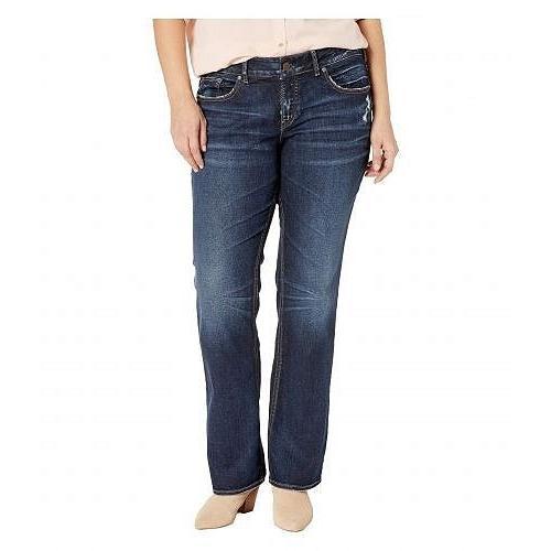 銀 Jeans Co. レディース 女性用 ファッション ジーンズ デニム Plus Size Elyse Mid-Rise Eased Curvy Slim Boot Jeans in Indigo W03601SSX415 - Indigo