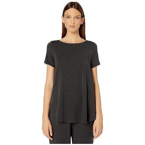 Eileen Fisher アイリーンフィッシャー レディース 女性用 ファッション Tシャツ Lightweight Tencel Stretch Jersey Ballet Neck Short Sleeve Top -