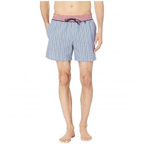 HOM メンズ 男性用 スポーツ・アウトドア用品 水着 Preppy Beach Boxer - 赤/青