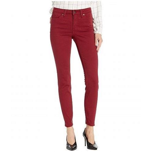 銀 Jeans Co. レディース 女性用 ファッション ジーンズ デニム Most Wanted Mid-Rise Skinny Jeans - 赤