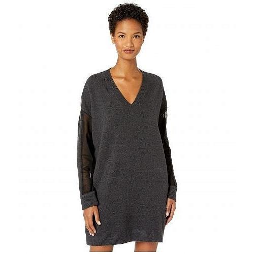McQ マックキュー レディース 女性用 ファッション ドレス V-Neck Tunic Dress - Charcoal