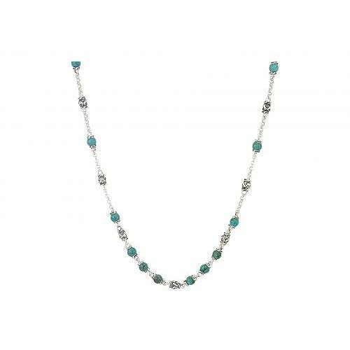 【お得】 John Hardy メンズ 男性用 ジュエリー 宝飾品 ネックレス Classic Chain Bead Necklace with 4mm Natural Arizona Turquoise - Silver, Select Space Colors (SSC) 4ba47cea