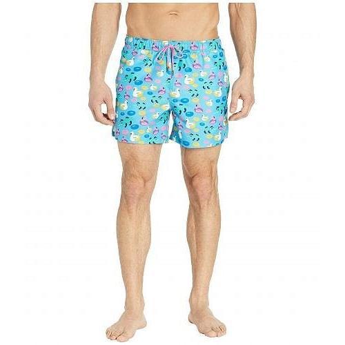 Happy Socks メンズ 男性用 スポーツ・アウトドア用品 水着 Pool Party Swim Shorts - Light 青