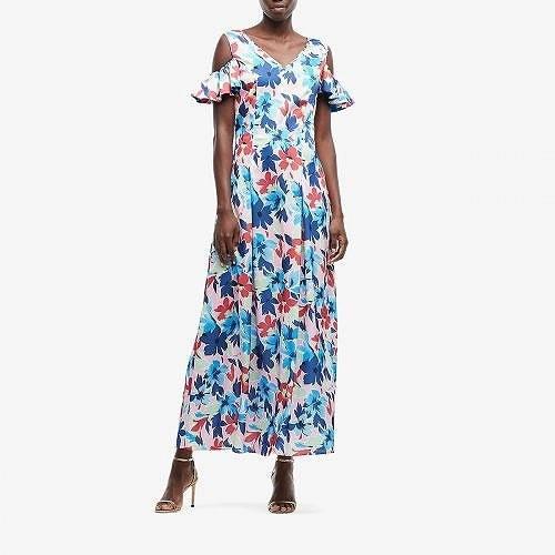 【日本限定モデル】 Boutique Moschino レディース 女性用 ファッション ドレス Maxi Floral Dress - Pink Multi, ホース屋ネットショップ 49c7193c