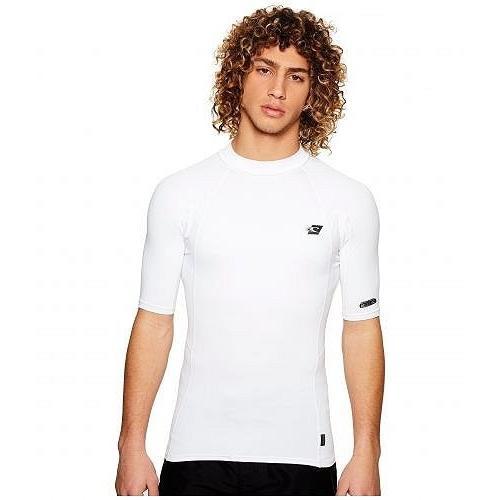 O'Neill オニール メンズ 男性用 スポーツ・アウトドア用品 水着 ラッシュガード スイムシャツ Premium Short Sleeve Rashguard - 白い/白い/白い