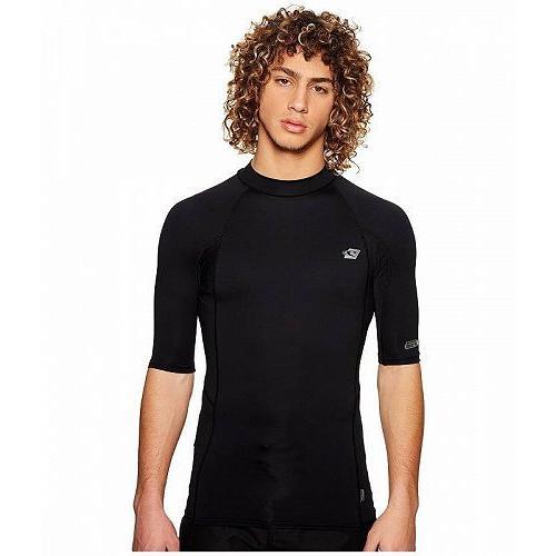 O'Neill オニール メンズ 男性用 スポーツ・アウトドア用品 水着 ラッシュガード スイムシャツ Premium Short Sleeve Rashguard - 黒/黒/黒