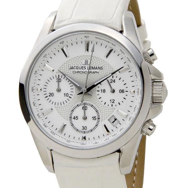 格安販売の ジャックルマン リバプール 35mm クオーツ クロノ レディース 腕時計 1-1752B ホワイト ホワイト, 南郷町 45b158a5
