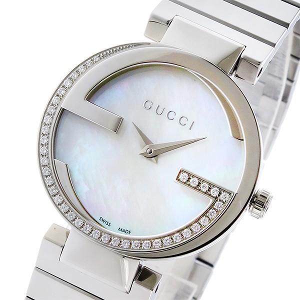 人気絶頂 グッチ GUCCI インターロッキング INTERLOCKING クオーツ レディース 腕時計 YA133508 シェルホワイト シェル, シューズプログレス 877d33ab