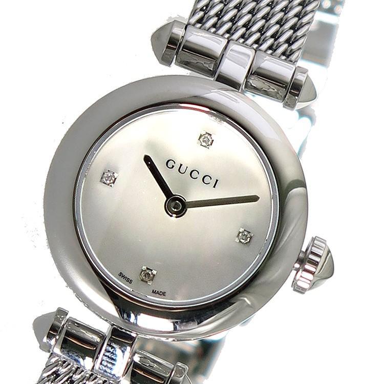 特売 グッチ GUCCI ディアマンティッシマ クオーツ レディース 腕時計 YA141512 シェル シェル, bocca-shop 50efa0d2