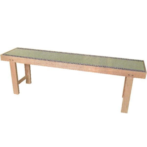 茶道具 椅子 座椅子 (新)床几 大 木地 三人用 三人掛用 折畳み式