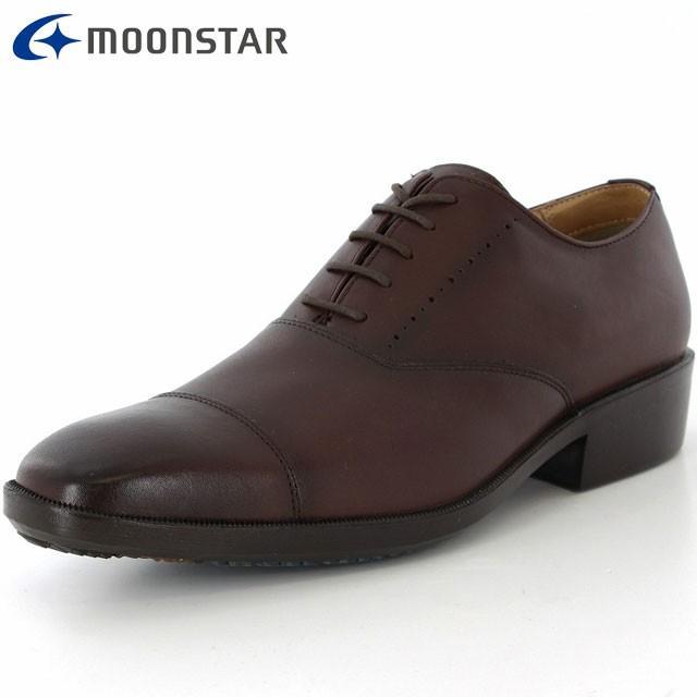 ムーンスター ビジネスシューズ メンズ SPH4208WSR ダークブラウン 42293299 MS 3E 男性向け 靴 ストレートチップタイプ 程よ