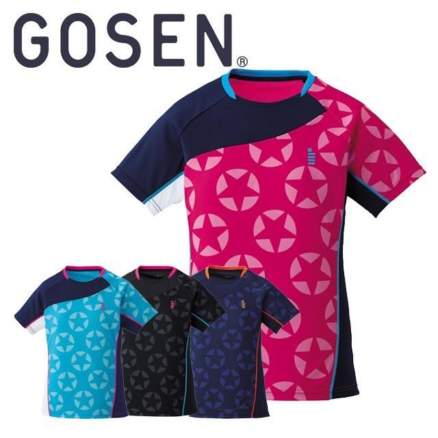 ゴーセン GOSEN レディース ゲームシャツ 半袖 星柄 T1711