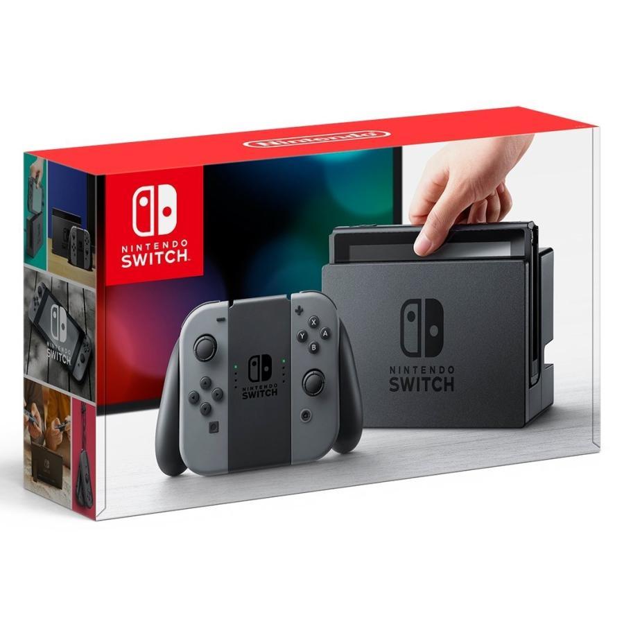 Nintendo Switch 本体 (ニンテンドースイッチ) 【Joy-Con (L) / (R) グレー】(キャンペーンプリペイド番号付き) 新品