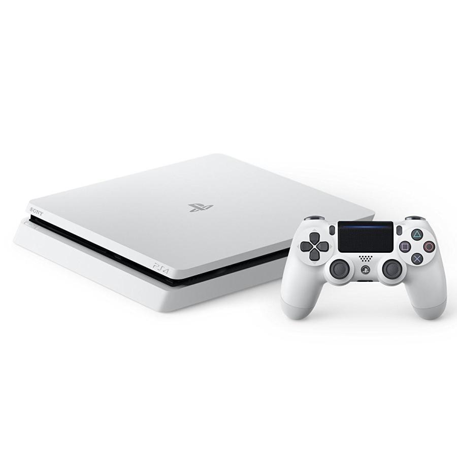 (中古)PS4 本体 PlayStation 4 PlayStation 4 グレイシャー・ホワイト 500GB (CUH-2000AB02) お取り寄せ品 送料無料