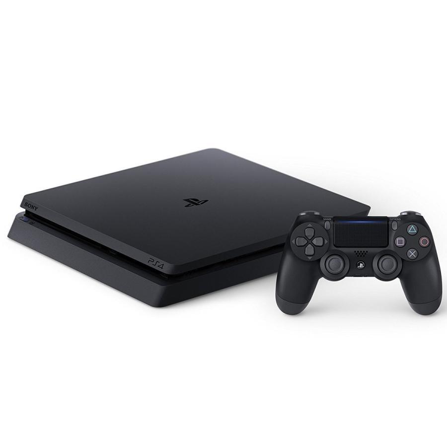 (中古)PS4 本体  PlayStation 4 ジェット・ブラック 500GB(CUH-2100AB01) お取り寄せ品 送料無料