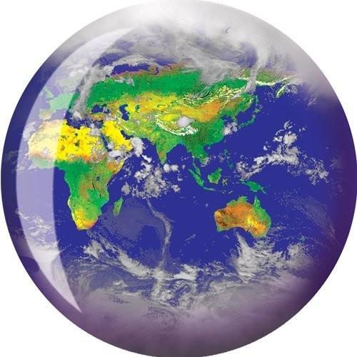 人気No.1 Brunswick Products World Viz-A Bowling Ball, Blue/Green/White, 16 lb 並行輸入品, 両神村 5eb06722