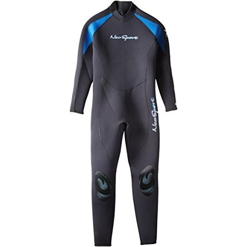 【受注生産品】 NeoSport Wetsuits Men's XSPAN 5mm Full Jumpsuit, Blue Trim, Medium Long - Diving, Snorkeling & Wakeboarding 並行輸入品, カミイタチョウ f4fa5df3
