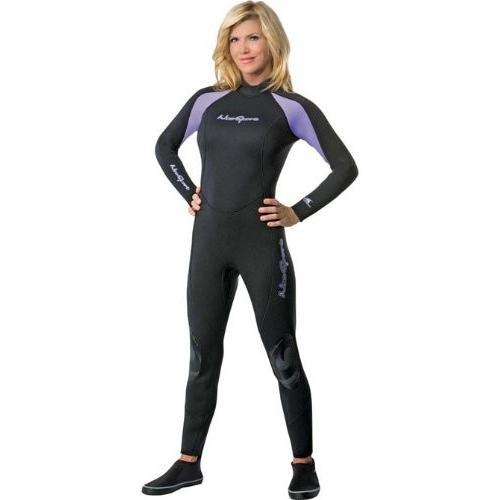 独特な店 NeoSport Wetsuits Women's Premium Neoprene 5mm Full Suit, Lavender Trim, 14 - Diving, Snorkeling & Wakeboarding 並行輸入品, 信州お茶の散歩道 田畑茶舗 ac126715