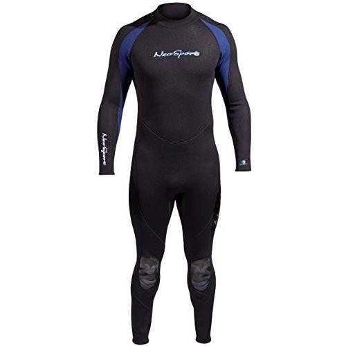 【超特価】 NeoSport Wetsuits Men's Premium Neoprene 7/5 mm Full Suit, Blue Trim, X-Large - Diving, Snorkeling & Wakeboarding 並行輸入品, PLUS IMPACT d3e4bf81