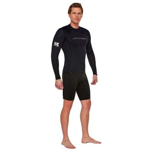 【初売り】 NeoSport Wetsuits Men's XSPAN Long Sleeve Shirt, Black, X-Small - Diving, Snorkeling & Wakeboarding 並行輸入品, 太白区 0aa0d2a2