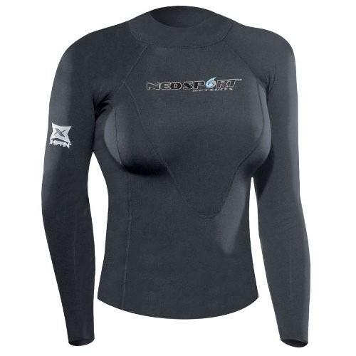 【第1位獲得!】 NeoSport Wetsuits Women's XSPAN Long Sleeve Shirt, Black, 6 - Diving, Snorkeling & Wakeboarding 並行輸入品, 分水町 53b5b8b0