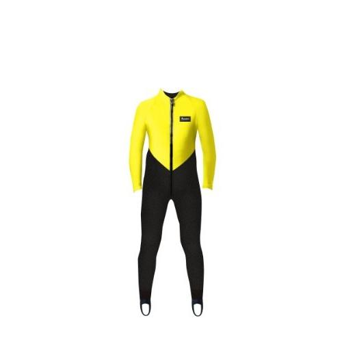 人気ブランドを Aeroskin Kids Lycra Full Body Suit (Black/Neon Yellow, Kids-1) 並行輸入品, まいどDIY 7a04363c