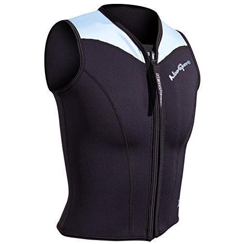 (税込) NeoSport Women's 2.5-mm XSPAN Vest (Black with Powder Blue Trim, 10) - Water Sports, Diving & Snorkeling 並行輸入品, H+mFurniture 79144c78