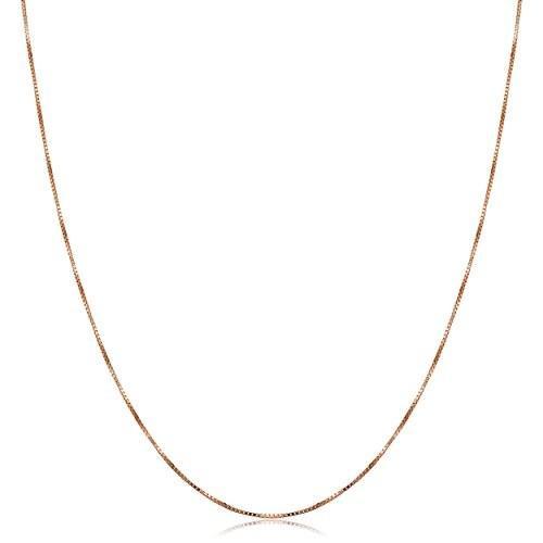 いいスタイル Kooljewelry 14k Rose Gold Venetian Box Chain Necklace (0.5 mm, 20 inch)【並行輸入品】, クダマツシ 7b461520