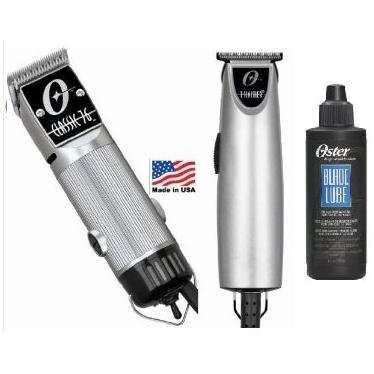 Combo Limited Edition Oster 76 and T Finisher Silver and a 4 oz lubricating Oil Clipper and Trimmer. 並行輸入品