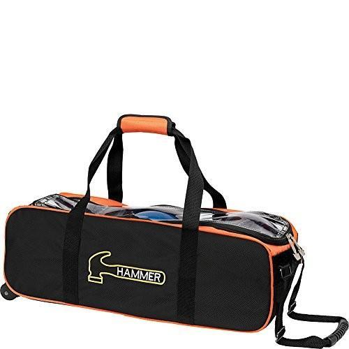おすすめネット Hammer Bag, Premium Triple Triple Black/Orange Tote Bowling Bag, Black/Orange 並行輸入品, ★お求めやすく価格改定★:4cf6eef2 --- persianlanguageservices.com