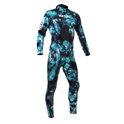 【驚きの価格が実現!】 SEAC Men's Body-Fit 1.5mm Neoprene Wetsuit, Camo, Large 並行輸入品, まさや 2021a9cf