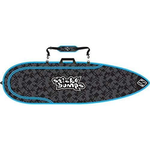 完璧 Sticky Bumps Bag Reflective Single Day Thruster Black/ Blue/ Reflective Thruster Surfboard Bag - 7'0